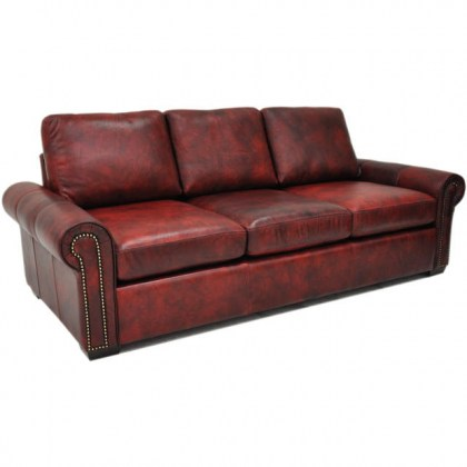 Jax 3 Leather Sofa