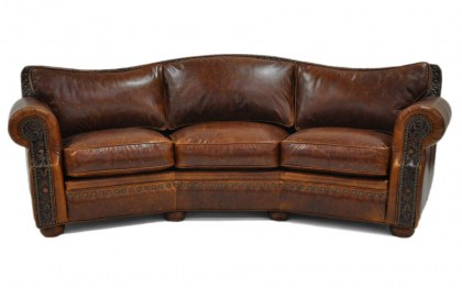Laredo Leather Conversation Sofa