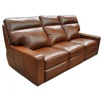 Lennox Leather Power Reclining Sofa With Articulating Headrest