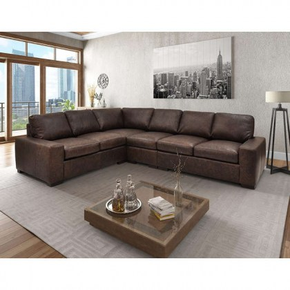 Max Leather Sectional
