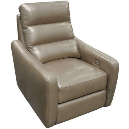 Mercury Leather Power Recliner With Adjustable Headrest