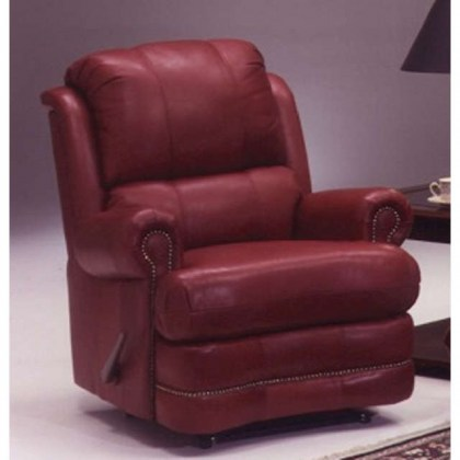Morgan Leather Swivel Glider Recliner