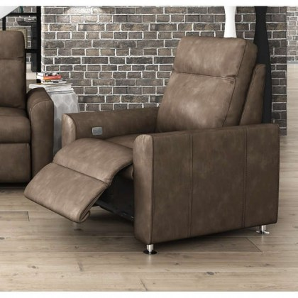 Muller Leather Power Recliner With Articulating Headrest