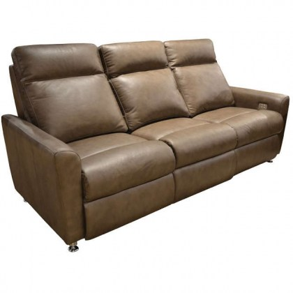Muller Leather Power Reclining Sofa