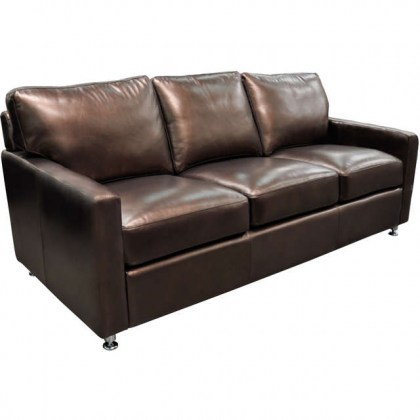Myron Leather Sofa Sleeper