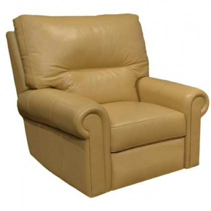 Riley Leather Swivel Glider Recliner