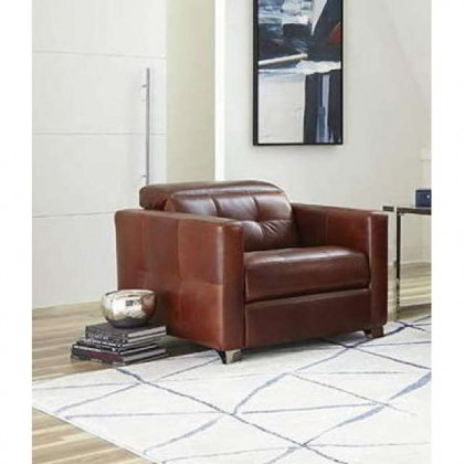 Sardinia Leather Power Recliner with Articulating Headrest
