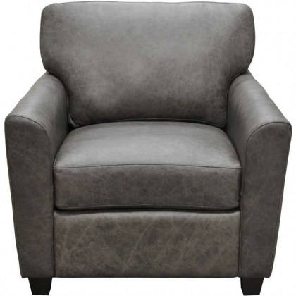 Shane Leather Chair and Ottoman