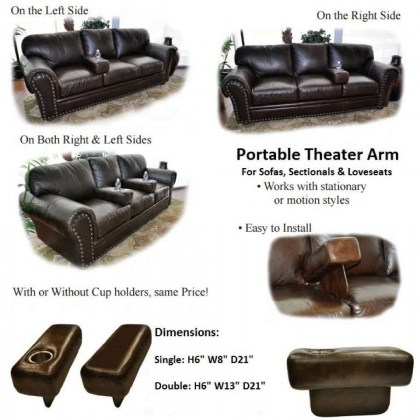 Patrick Leather Power Reclining Sofa With Adjustable Headrest