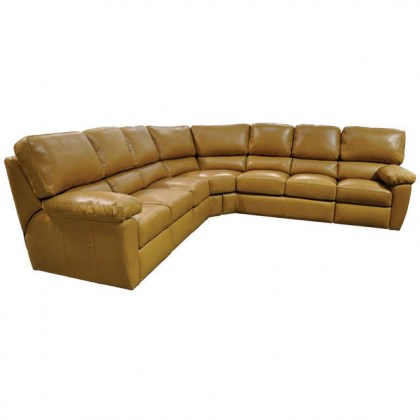 Vercelli Leather Reclining Sectional