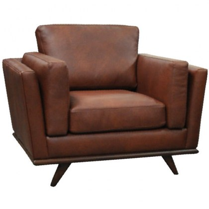 Travis Leather Chair and Ottoman