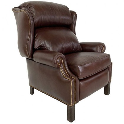 Wing Back Leather Recliner