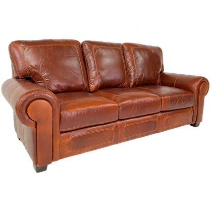 Dacula Leather Sofa - American Made