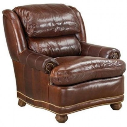 Ellis Leather Chair and Ottoman