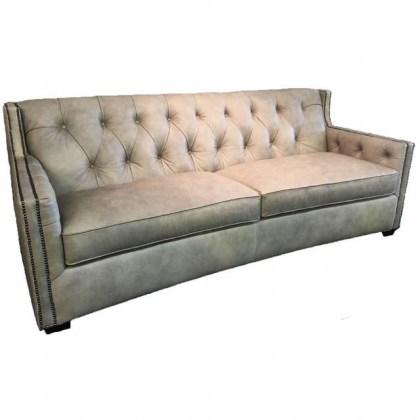 Henderson Leather Tufted Sofa