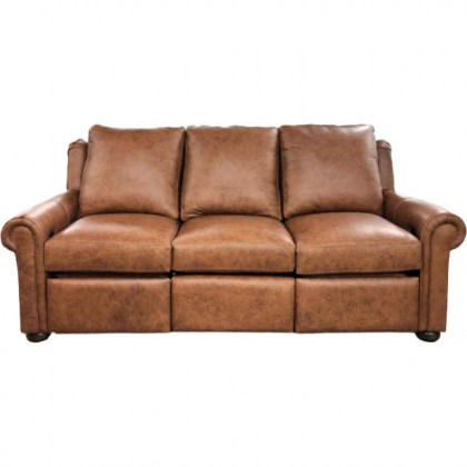 Newport Leather Reclining Sofa