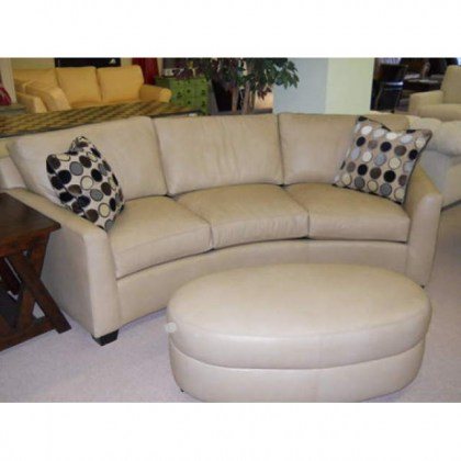Peters Leather Conversation Sofa