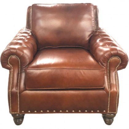 Beverly Leather Tufted Chair