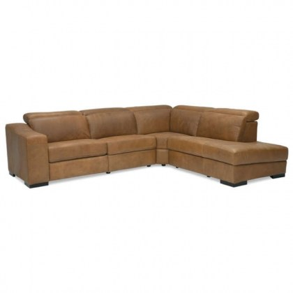 Zealand Power Reclining Sectional With Manual Headrest