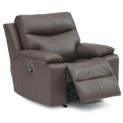 Providence Leather Swivel Rocker Recliner