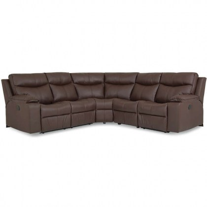 Providence Leather Reclining Sectional