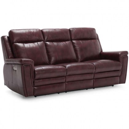 Alaska Leather Power Reclining Sofa
