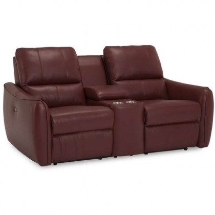 Arlo Leather Power Reclining Home Theater Seating
