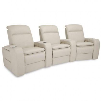 Vertex Leather Power Recliner Theater Seating With Articulating Headrest