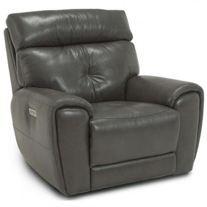 Aedon Leather Power Recliner With Adjustable Headrest