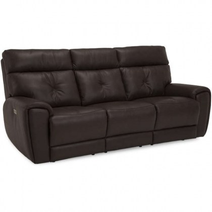 Aedon Leather Power Reclining Sofa With Articulating Headrest