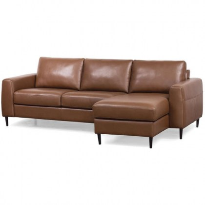 Atticus Leather Sofa With Chaise