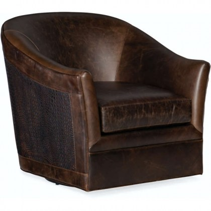 Morrison Leather Swivel Chair
