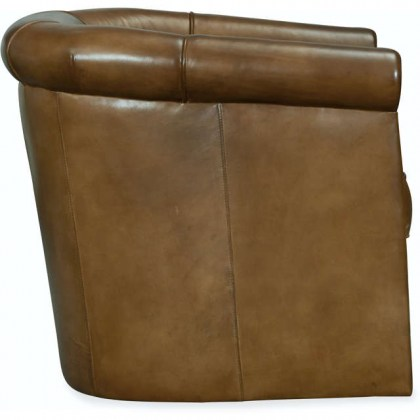 Lennox Leather Tufted Swivel Chair