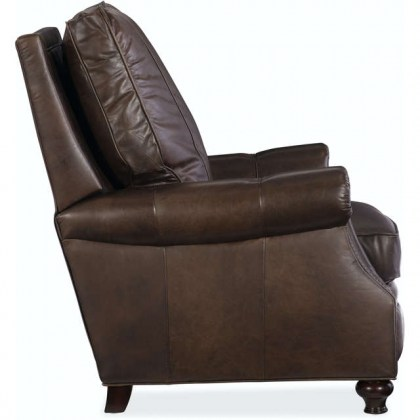 Burgundy Leather Recliner With Chippendale Legs