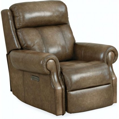 Brooks Leather Power Recliner with Articulating Headrest