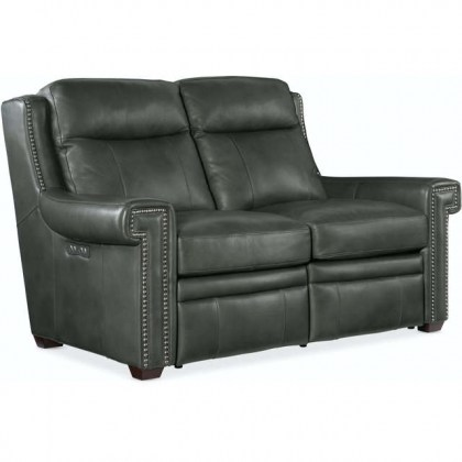 Mulberry Leather Loveseat - In Stock