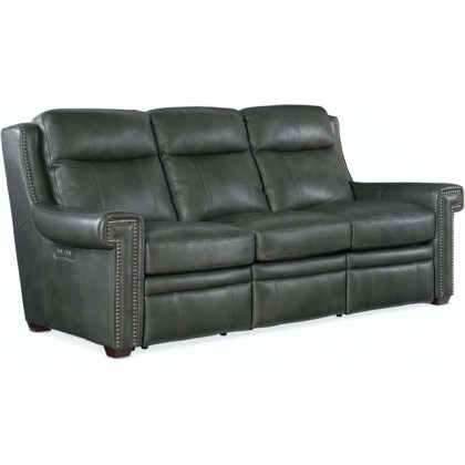 Mulberry Leather Sofa - In Stock