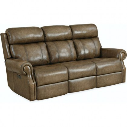 Brooks Leather Power Reclining Sofa With Articulating Headrest