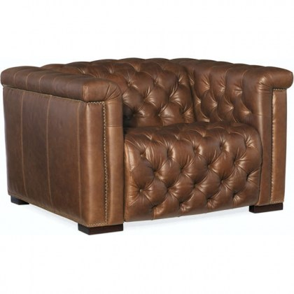 Chesterfield Power Recliner - Brown