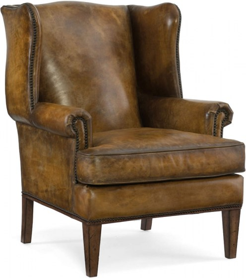 Blakeley Leather Chair and Ottoman