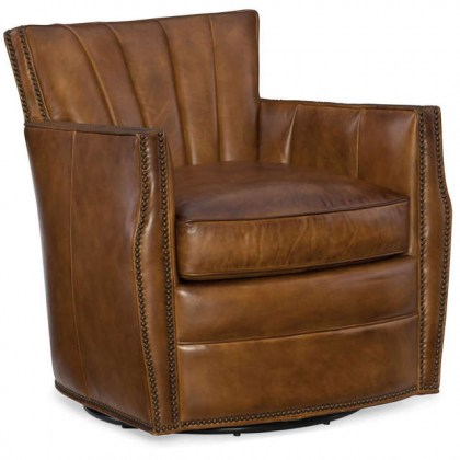 Gibson Leather Swivel Chair