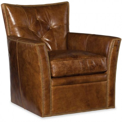 Caleb Leather Swivel Chair