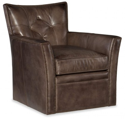 Ariana Leather Swivel Chair