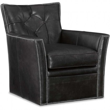 Disco Leather Swivel Chair