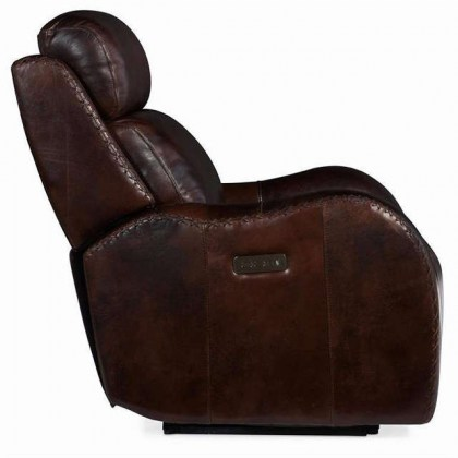 Mitch Leather Power Recliner with Adjustable Headrest