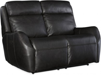 Winslow Leather Reclining Sofa with Articulating Headrest