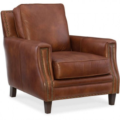 Exton Leather Chair and Ottoman