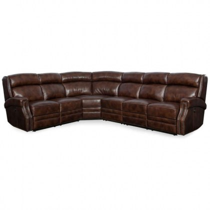 Skylar Leather Power Reclining Sectional with Power Headrest
