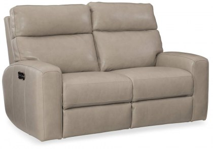 Brantley Power Reclining Leather Sofa with Adjustable Headrest