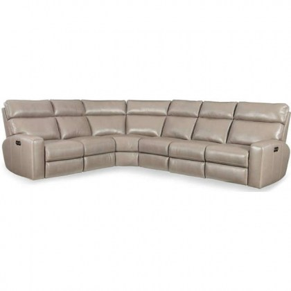 Brantley Leather Power Reclining Sectional with Power Headrest